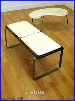 PLY BAK BENCH 2 Mid century Modern Bench Eames era Many color options avail