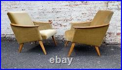 Pair Of MID Century Vintage German Armchairs / Chairs Great Condition Aug21-4