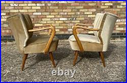 Pair Of MID Century Vintage German Armchairs / Chairs Great Condition Jan20-10
