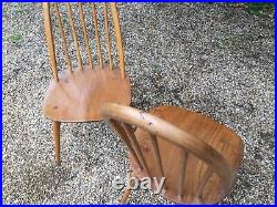 Pair Of Vintage 1960's Ercol Model 365 Quaker Dining Chairs
