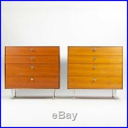 Pair of 1950s George Nelson Herman Miller Thin Edge Dresser Cabinet 2x Avail