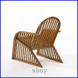 Pair of Prototype Richard Schultz Wooden Outdoor Lounge Chairs c. 1985 Knoll
