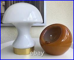 Psychedelic Space Age Set Mushroom Lamp And Ashtray Modernism Mouthblown Glass