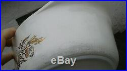 Pyrex Rare Golden Thistle 045 With Lid Htf