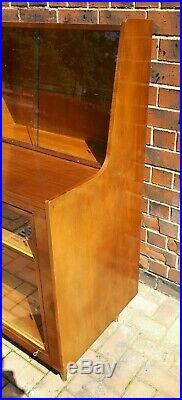 Quirky Mid-Century 1950's Teak Cocktail Bar Revolving Drinks Display Cabinet