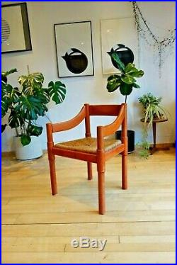 RED CARIMATE DINING CHAIR BY VICO MAGISTRETTI mid century modern habitat