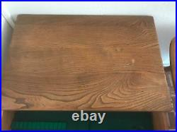 Rare Ercol Hall, Side Table Desk iBlonde Finish Model 479 built 1960's to 1970's