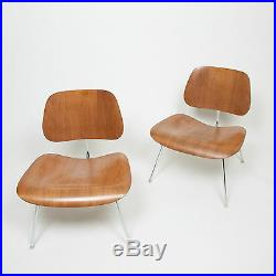 Rare Pair of Eames Herman Miller 1970s Ash LCM Lounge Chairs Mid Century Modern