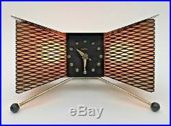 Rare STUNNING Vtg 1950s Majestic Mid Century Mod ATOMIC Clock/Tv Lamp by SNIDER