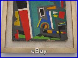 Raymond Grandjean Painting Abstract Cubism French Modernism MID Century Rare