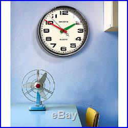 Retro Vintage George Nelson Style Mid Century Modern Chrome Wall Clock