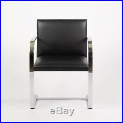 STAINLESS Knoll Mies Van Der Rohe Brno Chairs Black Leather Sets Avail 2000s