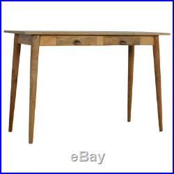 Scandinavian Style Desk With Mid Century Style Legs Solid Wood Fully Assembled