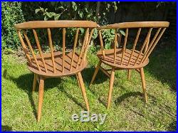 Set of Four Original 1960's Ercol 449a Cowhorn (Carver) chairs