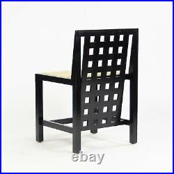 Set of Six Charles Rennie Mackintosh 324 DS3 Chairs + Dining Table Set Cassina