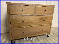 Solid Oak Heals London Chest of Drawers