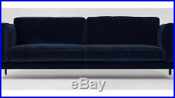 Swoon Editions Munich Three-seater Sofa, in ink Velvet (RRP £1299)