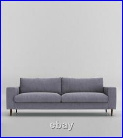 Swoon Evesham Smart Wool Three Seater Sofa in Anthracite Grey RRP £1219