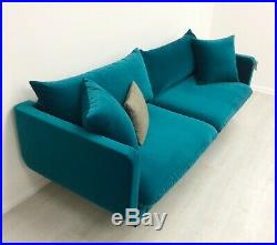 Swoon Freja 3 Seater Sofa Kingfisher Teal Velvet Swoon Editions £1499