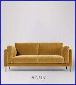 Swoon Munich Living Room Stylish Biscuit Birch Two Seater Sofa RRP £1299