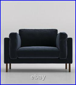 Swoon Munich Living Room Stylish Ink Birch Handcrafted Love Seat RRP £849