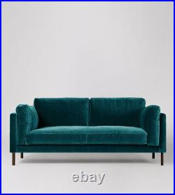 Swoon Munich Living Room Stylish Kingfisher Birch Two Seater Sofa RRP £1199