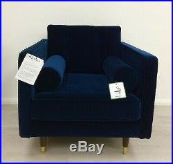 Swoon Porto Armchair Ink Blue Deep Velvet SWOON EDITIONS £779