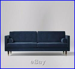 Swoon Porto Living Room Blue handcrafted Three Seater Sofa RRP £1249