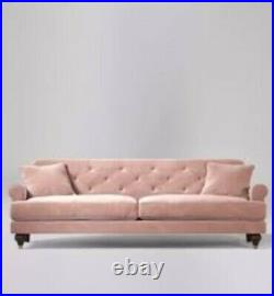 Swoon Sidbury Living Room Blush Handcrafted Three Seater Sofa RRP £1599