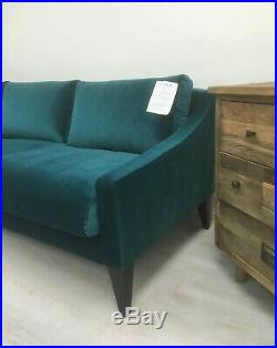 Swoon Turin LH Corner Sofa Kingfisher Teal Easy Velvet Swoon Editions £1949