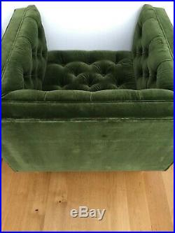Swoon Vincent Armchair Forest Green Velvet Mid-century Modern RRP £999 New Other