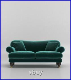 Swoon Willows Stylish Kingfisher Green Easy Velvet Two Seater Sofa RRP £1599