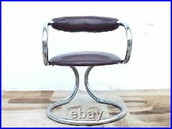 Tecnosalotto Italy production design years'70 set of four chair space age