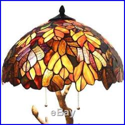 Tiffany Style Table Lamp Tree Table Reading Desk Accent Stained Glass Lamp