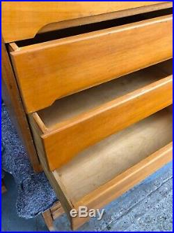 VINTAGE 1970s DANISH Style Light Wood CHEST OF SIX DRAWERS Mid-Century