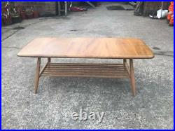 Very old 1960's Stunning Vintage Retro Ercol coffee table with magazine rack
