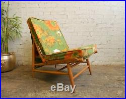 Vintage 60s Mid Century Modern Ercol Windsor 427 Chair + Original Funky Cushions
