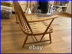Vintage Ercol Windsor two seater sofa armchair mid century furniture