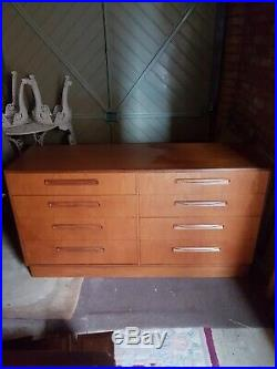 Vintage G Plan Fresco large teak double chest of drawers