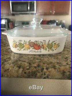 Vintage Rare Corning Ware Spice of Life P-7-C / 29 with Pyrex Lid