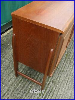 Vintage teak sideboard, 1960s period, with louvre doors and internal drawers