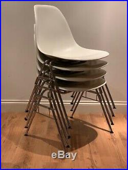 Vitra Charles & Ray Eames Mid Century 1960s Side Chair DSS x4