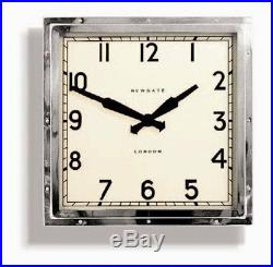 Wall Clock Vintage Retro Mid Century Square Iconic Design Restoration Hardware