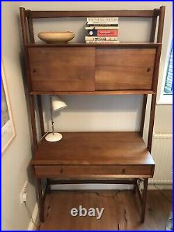 West Elm Mid-Century Wall Desk, Slim w Cupboard and Drawer, Super Condition