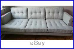 West Elm Peggy mid century 3 seater Sofa RRP £2395 Delivery
